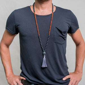Strong Spirit Man Gemstone Mala, Manipura - Handmade in Amsterdam