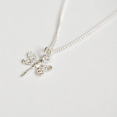 Dragon Fly Silver Necklace by Manipura Malas at