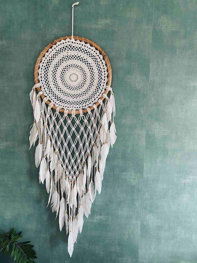 Wall Dream Catcher with Macrame - handmade in Bali