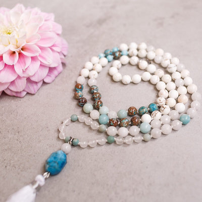 Inspiration Gemstone Mala - Handmade with 108 Mala Beads by Manipura