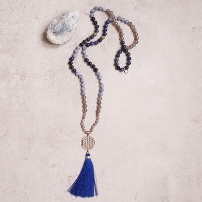 Life Aquatic Gemstone Mala - Handmade with 108 Mala Beads by Manipura