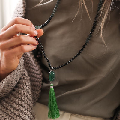 Purity Gemstone Mala - Handmade with 108 Mala Beads by Manipura