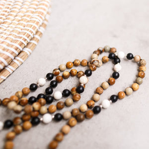 Natural Beauty Gemstone Mala, Manipura - Handmade in Amsterdam