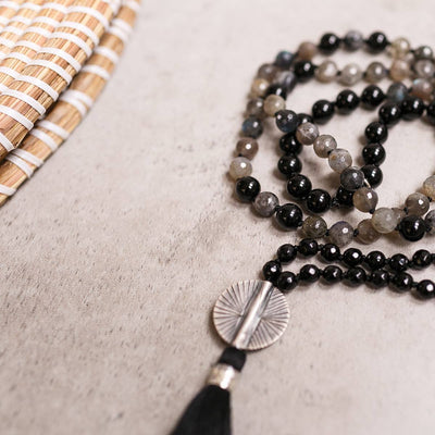 Self Discovery Gemstone Mala - Handmade with 108 Mala Beads by Manipura