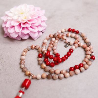 Trust Yourself Gemstone Mala - Handmade with 108 Mala Beads by Manipura