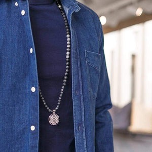 Connection Man Gemstone Mala, Manipura - Handmade in Amsterdam