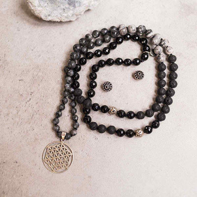 Connection Man Gemstone Mala - Handmade with 108 Mala Beads by Manipura