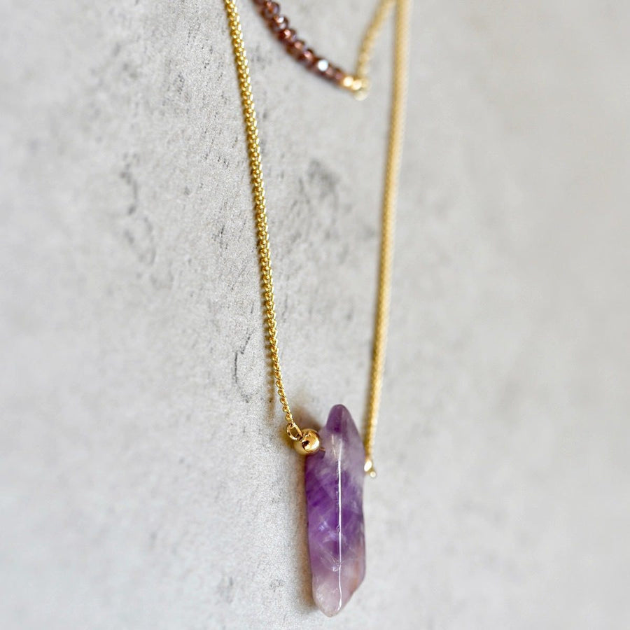 Amethyst Necklace Manipura