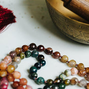 Healing Colours Agate Gemstone Mala beads 108 handmade by Manipura