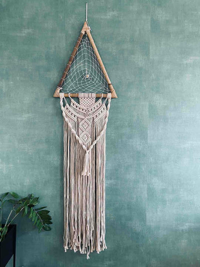 Sacred Geometry Triangle Dream Catcher macrame handmade bali