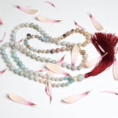 Gemstone Mala handmade with 108 Amazonite beads