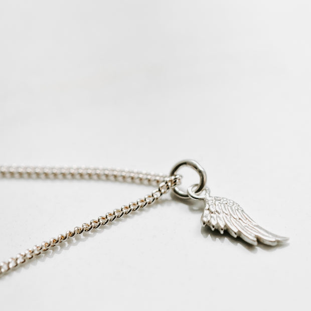 Bird Wing Silver Necklace Manipura$