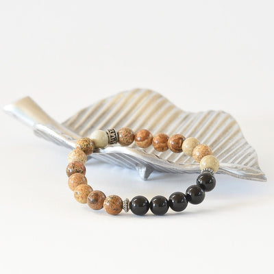 Picture Jasper Gemstone Bracelet 'Knowing your path' by Manipura Malas at 35.00