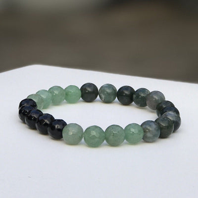 Deep Forrest Gemstone Bracelet by Manipura Malas at 35.00