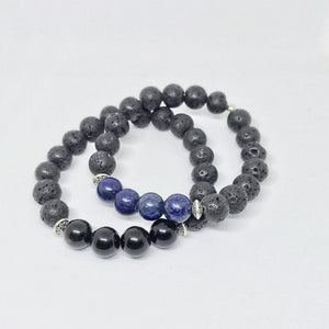 Gravity Men Gemstone Bracelet - Dark, Manipura - Handmade in Amsterdam