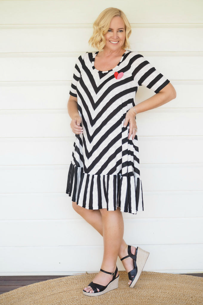 Nikki from Styling You in Maiocchi's Stripy Frock