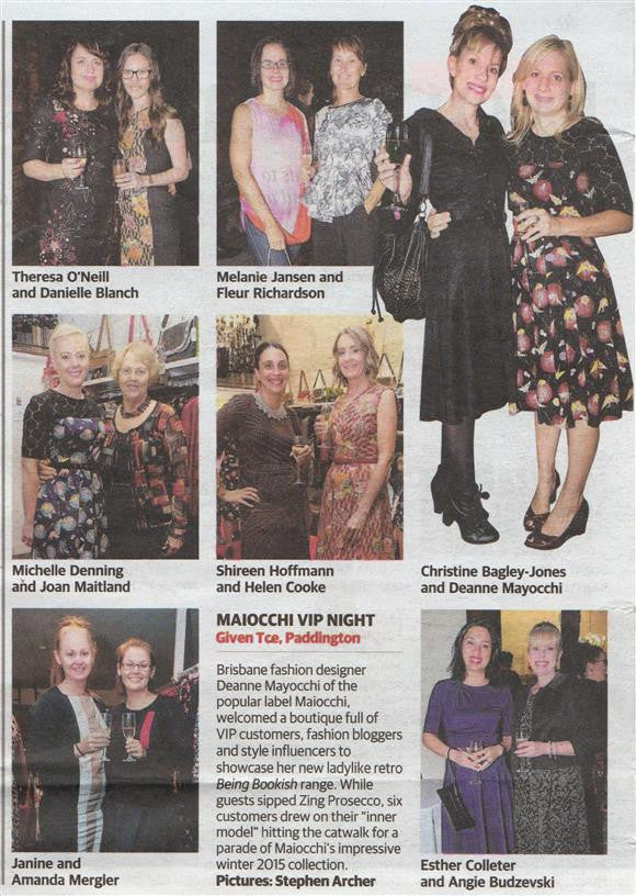 Maiocchi VIP evening in U on Sunday Magazine