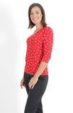 grace reversible top in ruby kiss