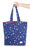 reversible tote in ruby kiss