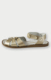 saltwater sandals in gold