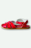 saltwater sandals in red