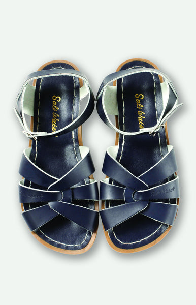 Saltwater Sandals in Navy