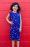 mini maiocchi dress in denim salon