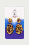 each to own gem double drop earrings in bronze
