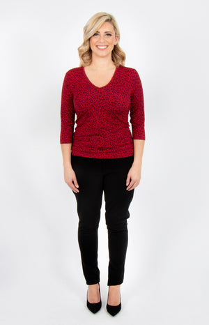 grace reversible top in ruby wild