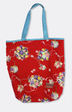 harper tote in red floral