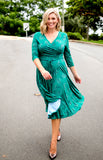 lucinda dress in emerald star
