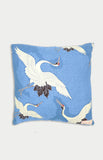 maiocchi cushion in blue cranes