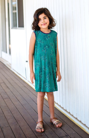 mini maiocchi dress in emerald star