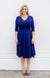 cleo dress in navy spot
