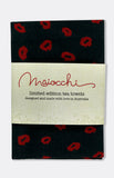 maiocchi tea towel in black lips
