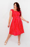 carnival dress in red stripe