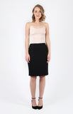 wiggle skirt in black plain
