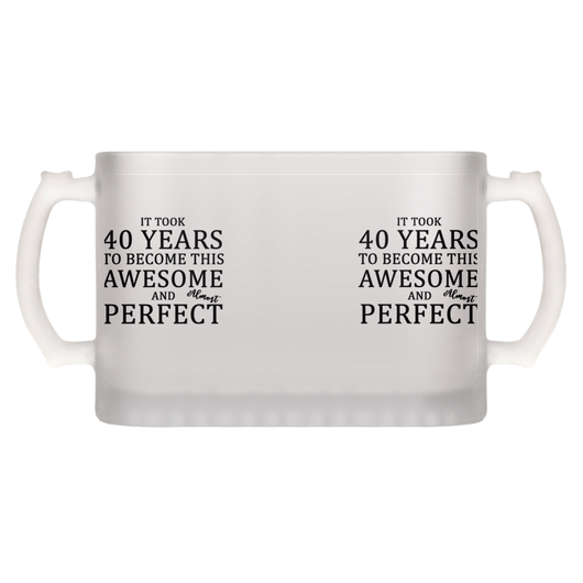 Beer Mug 40th Birthday Gift For Your Dad Mom Husband Or Friends