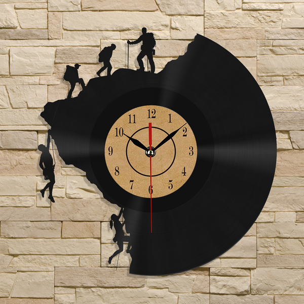 Rock & Ice Climbing Vinyl Record Wall Clock