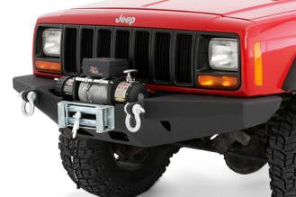 Smittybilt XRC Rock Crawler Winch Front Bumper with D-ring Mounts (Black)