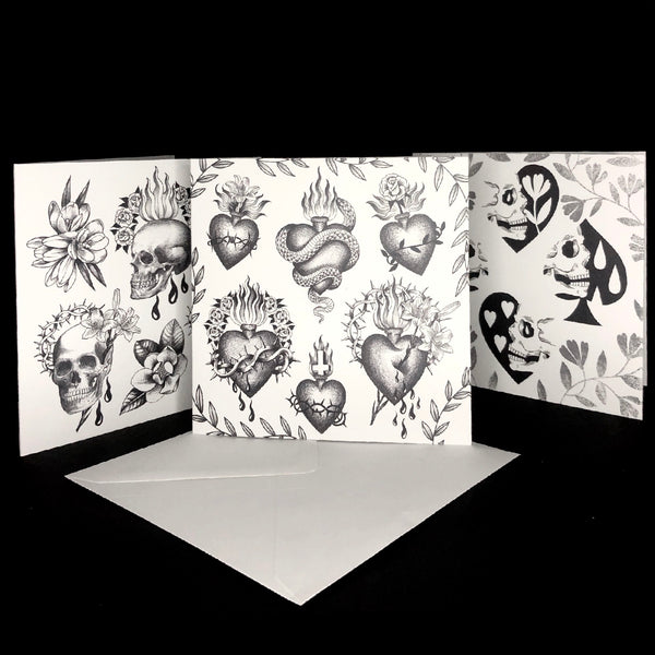 Spades and Hearts- Greeting Card
