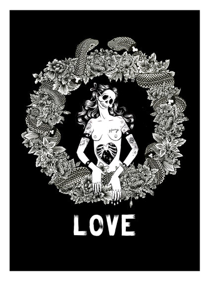 Love- Screenprinted Poster