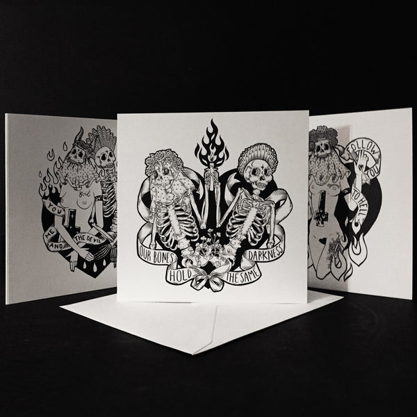 I would follow you to hell- Greeting Card