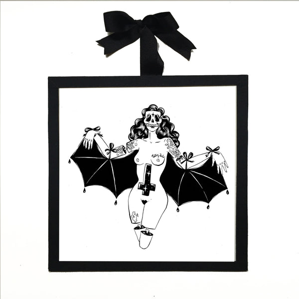 Titty bats homage- Signed Art Print