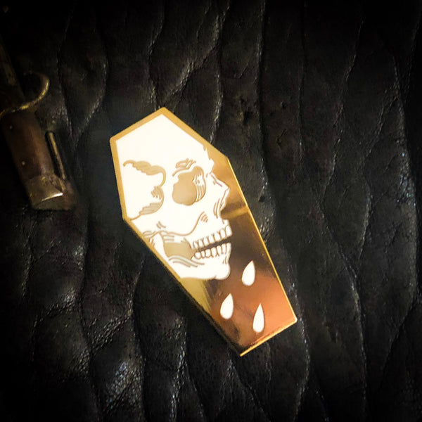 Coffin Skull - Hard Enamel Pin