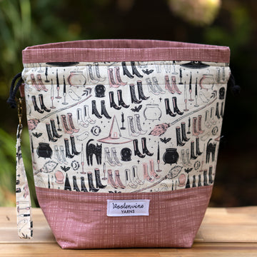 These Boots Were Made for Witchin', DRAWSTRING PROJECT BAG