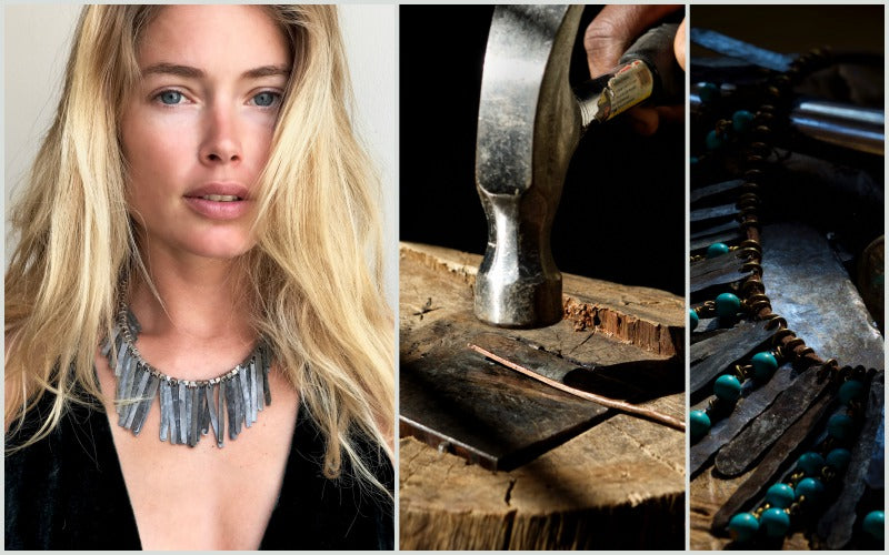 Supermodel Doutzen Kroes in our Original Snare Necklace