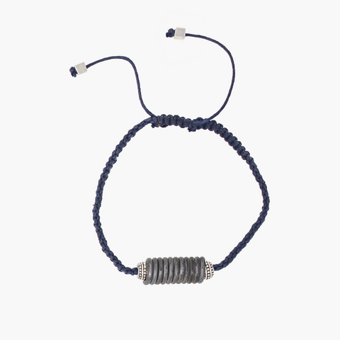 8 Tips for Father's Day : Blue coiled snare and cord bracelet
