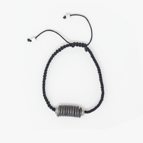 8 Tips for Father's Day : Black coiled snare and cord bracelet