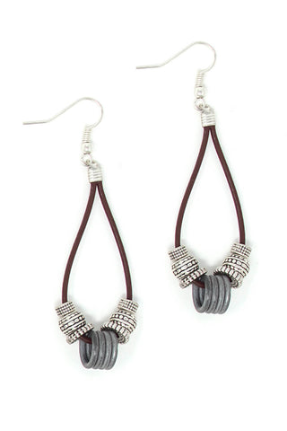 Simple leather earrings